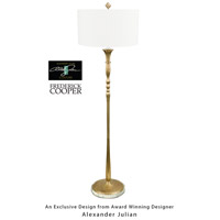 Frederick Cooper by Wildwood Lamps Gisele Floor Lamp in Brass Finish Art C/S On Onyx Mounting 65059