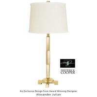 Wildwood 65062 Alexander Julian 31 inch 60 watt Antique Brass Table Lamp Portable Light