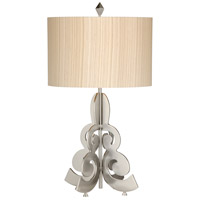 Alexander Julian 26 inch 150 watt Satin Nickel Table Lamp Portable Light