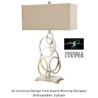 Frederick Cooper by Wildwood Lamps Apollonius Table Lamp in Hand Hammered Brass/Nickel Finish 65066