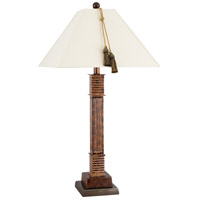 Wildwood 65132 Frederick Cooper 30 inch 100 watt Mottled Brown Table Lamp Portable Light