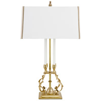 Wildwood Lamps 65137 Ronan 28 inch 100 watt Antique Brass Table Lamp Portable Light photo thumbnail