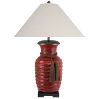 Gila 36 inch 150 watt Ribbed Brass Vase Table Lamp Portable Light