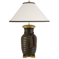 Frederick Cooper by Wildwood Lamps Gila II Table Lamp in Hand Finished Ant Olive Ribbed Brass 65144
