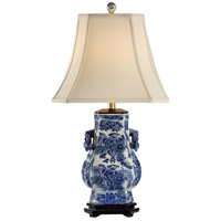 Frederick Cooper by Wildwood Lamps Blue Tang Table Lamp in White Crackle Finish & Blue Floral Mot 65149
