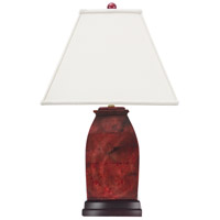 Imperial 26 inch 150 watt Oxblood Jade Tapered Form Table Lamp Portable Light