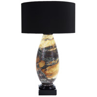 MacKenzie 28 inch 100 watt Multi-Toned Marble Tapered Form Table Lamp Portable Light