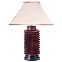 Imperial 28 inch 150 watt Oxblood Colored Jade Monolithic Form Table Lamp Portable Light