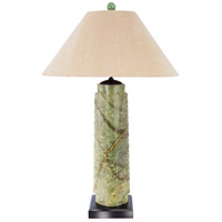 Wildwood Lamps King Darius Table Lamp in Hand Carved Jade Tapered Form 65170