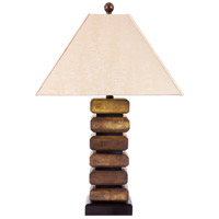 Wildwood Lamps Kamchatka Stone Table Lamp in Dark Green/Brown Jade 65171