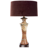 Wildwood Lamps Cafe Macchiato Gross Table Lamp in Brown Marble 65172