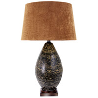Wildwood Lamps Espresso Grosso Table Lamp in Coffee Colored Marble 65173