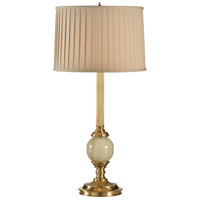 Frederick Cooper by Wildwood Lamps Pendroy Table Lamp in Antique Brass And Green Marble 65177 photo thumbnail