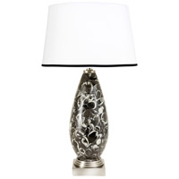 Wildwood Lamps Cortez II Table Lamp in Black And Grey Marble 65183