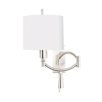 Ra 100 watt Satin Nickel Swing Arm Sconce Wall Light