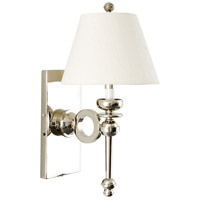 Wildwood Lamps Moderne II Sconce in Shiny Nickel 65199
