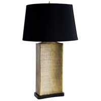 Frederick Cooper by Wildwood Lamps Uptown Brass Table Lamp in Rectangular Form Antique Brass Finish 65231-2