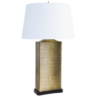 Frederick Cooper by Wildwood Lamps Uptown Brass Table Lamp in Rectangular Form Antique Brass Finish 65231