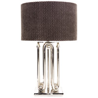 Wildwood Lamps Rock Table Lamp in Shiny Nickel 65238
