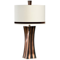 Wildwood Lamps Newport II Table Lamp in Bronze Finish Twisted Square Form 65240