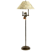 Frederick Cooper by Wildwood Lamps Polly by Night II Floor Lamp in Dark Brown Finish 65262