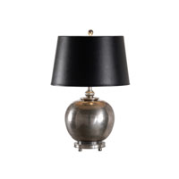 Larry Laslo 26 inch 100 watt Old Pewter Table Lamp Portable Light