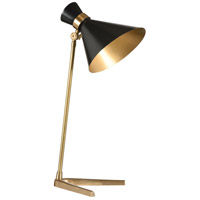 Frances Mayes 27 inch 60 watt Ant Brass Table Lamp Portable Light