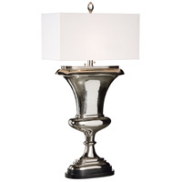 Wildwood 65461 Porter 43 inch 60 watt Polished Nickel-Black Marble Table Lamp Portable Light