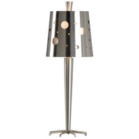 Wildwood 65537 Frederick Cooper 28 inch 60 watt Brushed Nickel Table Lamp Portable Light, Frederick Cooper