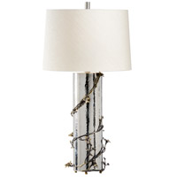 Wildwood 65565 Frederick Cooper 32 inch 100 watt Hammered/Polished Nickel/Antique Table Lamp Portable Light, Frederick Cooper