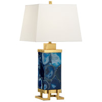 Wildwood 65642 Frederick Cooper 32 inch 100 watt Blue Table Lamp Portable Light, Frederick Cooper