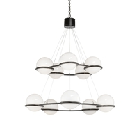 Black/White Glass Chandeliers