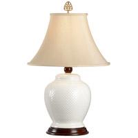 Wildwood 6613 Fish Scale Jar 25 inch 100 watt Handmade Tuscan Ceramic Table Lamp Portable Light