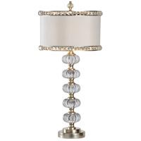 Wildwood 66800 Raymond Waites 34 inch 60 watt Fauceted Crystal Shade Table Lamp Portable Light