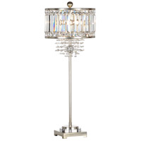 Wildwood 66805 Raymond Waites 35 inch 60 watt Silver Leaf Table Lamp Portable Light