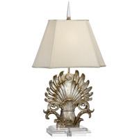 Wildwood 66818 Raymond Waites 34 inch 100 watt Silver Leaf Table Lamp Portable Light