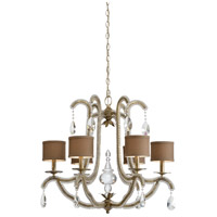 Wildwood 66823 Raymond Waites 6 Light 27 inch Antique Silver Leaf Chandelier Ceiling Light