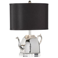 Wildwood 66842-2 Frederick Cooper 18 inch 40 watt Brass - Clear Crystal Mounting Table Lamp Portable Light Frederick Cooper