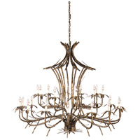 Bamboo 25 Light 57 inch Old Gold Patina On Chandelier Ceiling Light