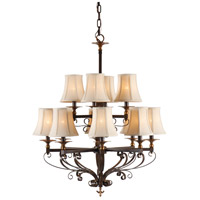 Wildwood Lamps Signature Chandelier in Old Bronze Patina On Iron 67013
