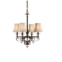 Wildwood Lamps Signature Chandelier in Old Bronze Patina On Iron 67015
