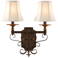 Casual 2 Light 13 inch Old Bronze Patina On Iron Sconce Wall Light