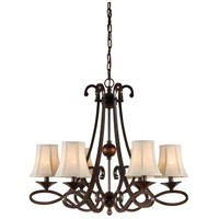 Wildwood Lamps Signature Chandelier in Old Bronze Patina On Iron 67019