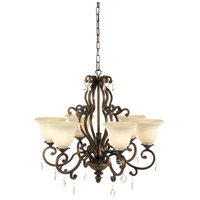 Wildwood Lamps Iron Chandelier in Old Bronze Finish 67022