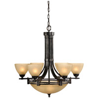 Wildwood Lamps Signature Chandelier in Weathered Bronze Finish 67026