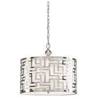 Daphne 3 Light 20 inch Pierced Metal In Nickel Pendant Ceiling Light