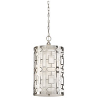 Coco 3 Light 12 inch Pierced Metal - Nickel Pendant Ceiling Light