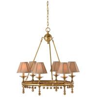 67057 Wildwood Wildwood 6 Light 25 inch Solid Brass-Antique Chandelier Ceiling Light