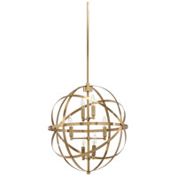 Orbit 6 Light 22 inch Antiqued Brass Pendant Ceiling Light