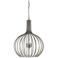 Abella 3 Light 26 inch Pewtered Iron Pendant Ceiling Light